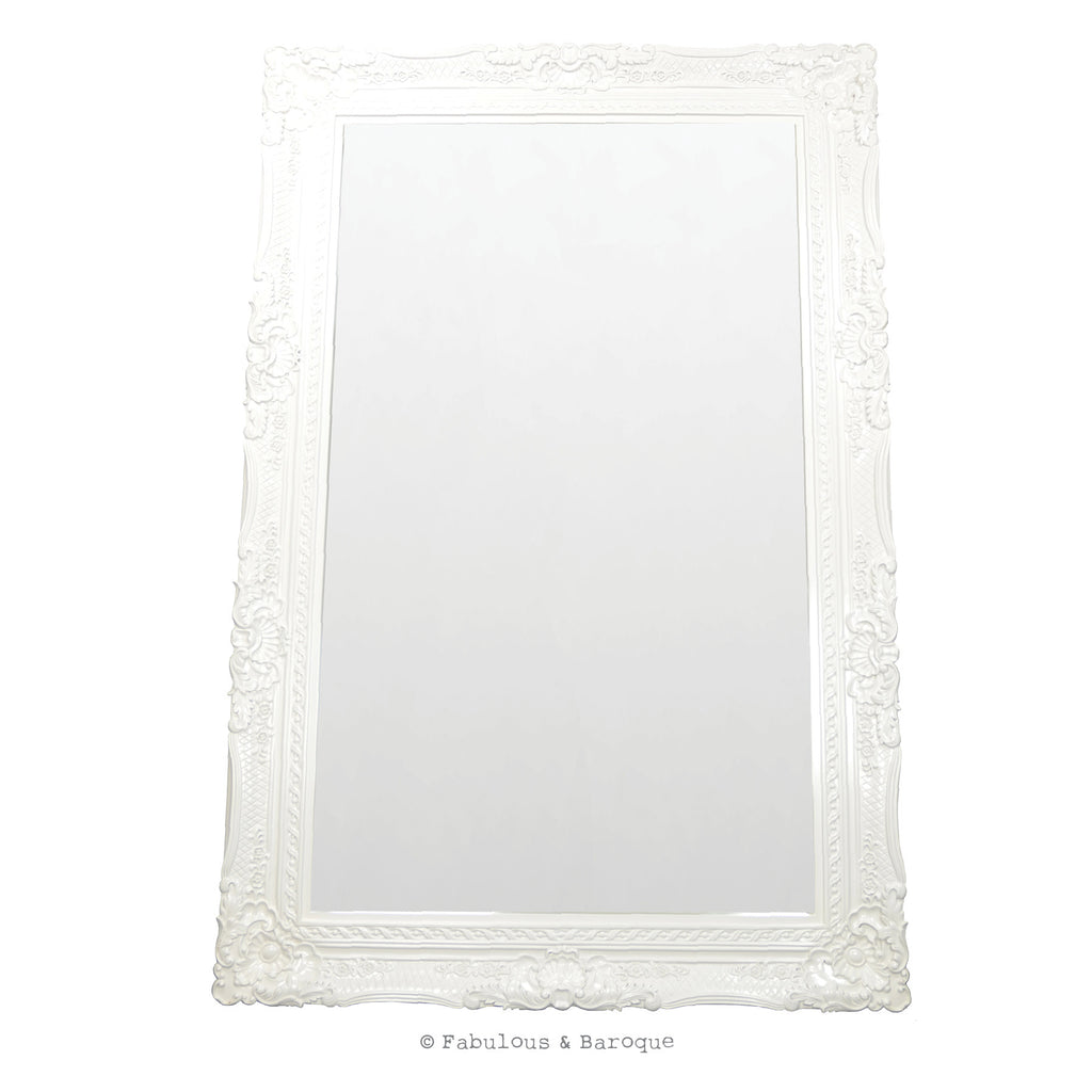 Grand Beau Wall Mirror 6ft x 4ft- White