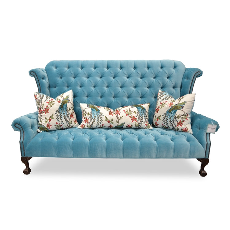CARTER VELVET WINGBACK SOFA