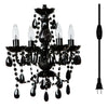 4 Light Chandelier w/ Wall Plug - Assorted Colors