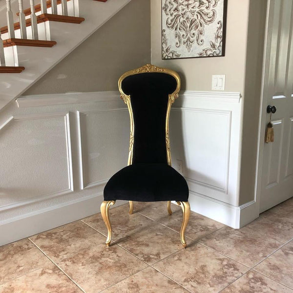 Dauphine Chair - Gold leaf w/ black velvet - Client Photos & Kudos!