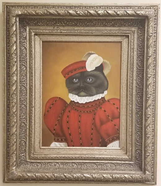 Baroque Portrait Painting - Carden the Cat