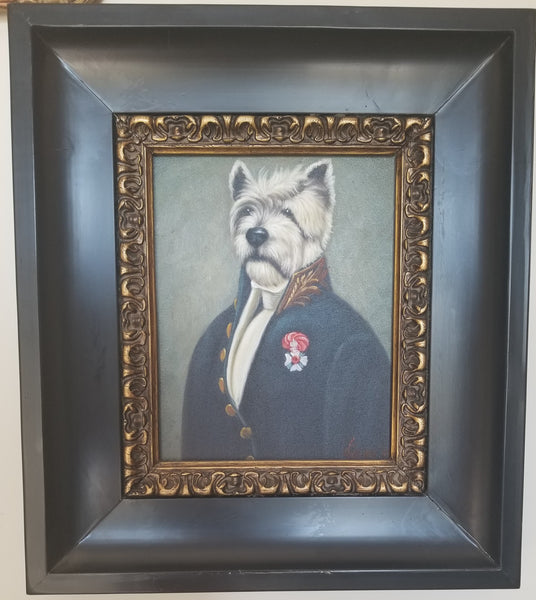 Baroque Portrait Painting - Winston the Westie