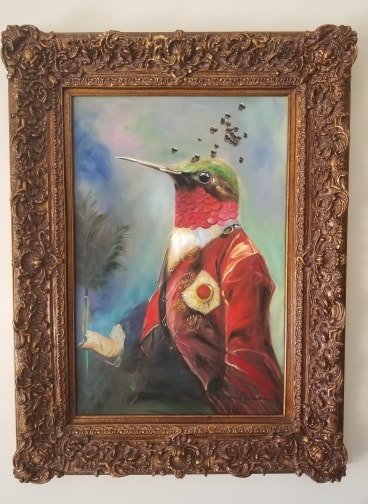 Baroque Portrait Painting - Harland the Hummingbird