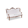 Maxwell Love Seat - Gold & White