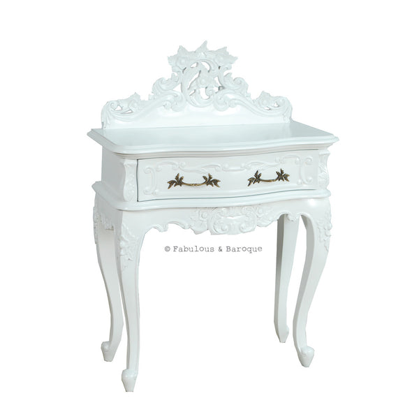 Royal Fortune Montespan Side Table - White