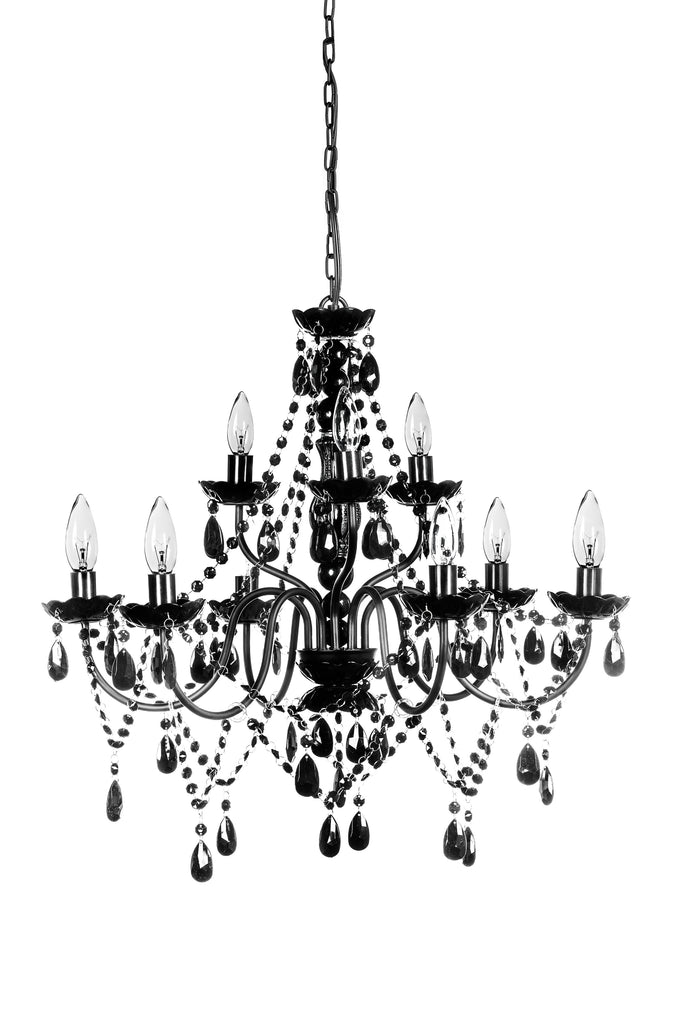 9 Light Chandelier - Assorted Colors