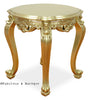Absolom Roche Round Side Table - Gold