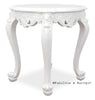 Gryphon Reine Round Side Table - White lacquer