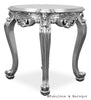 Gryphon Reine Round Side Table - Silver