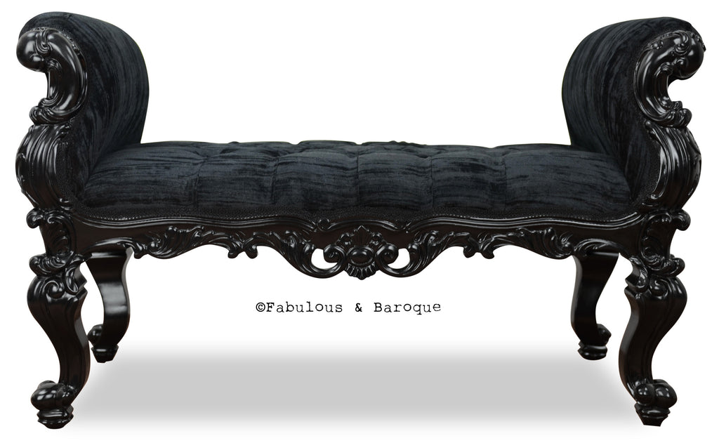 Fabulous and Baroque's Gryphon Reine Bench - Black