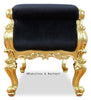Fabulous and Baroque's Absolom Roche Bench - Gold Leaf