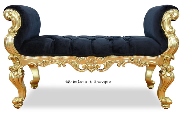 Fabulous and Baroque's Gryphon Reine Bench - Gold Leaf
