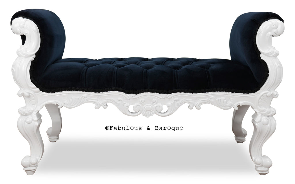 Fabulous and Baroque's Gryphon Reine Bench - White & Black