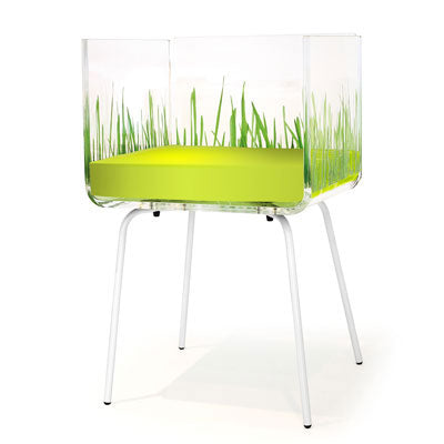 Cali Herbe Chair w/ pyramid legs