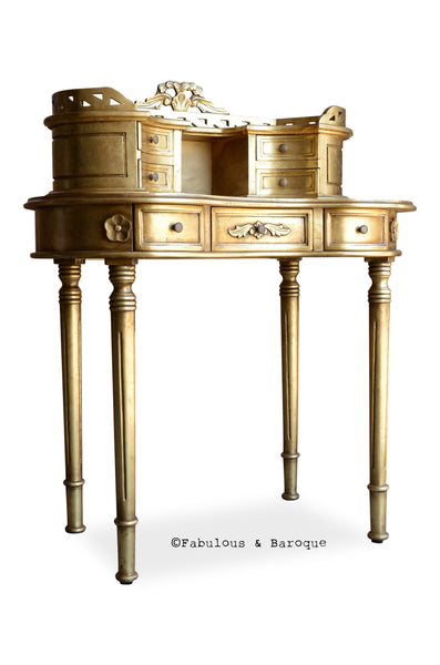 Fabulous and Baroque's Adelle Ladie's Desk - Gold