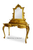 Anais Dressing Table & Mirror- Gold Leaf