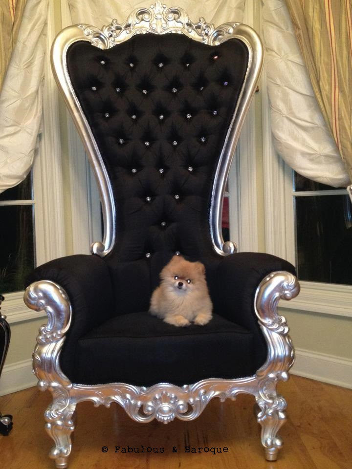 Gryphon Reine Chair - Silver Leaf - Client Photo