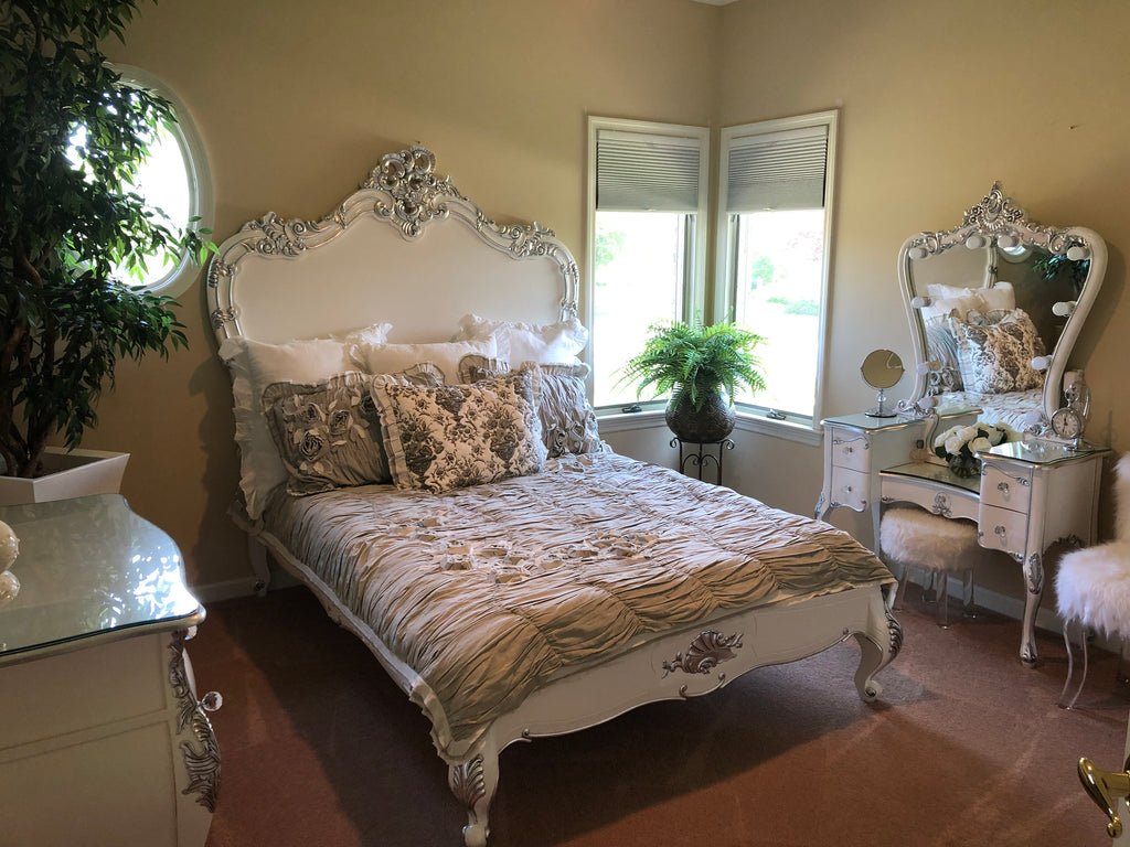 Babette Bed - White and Silver - Client Photo