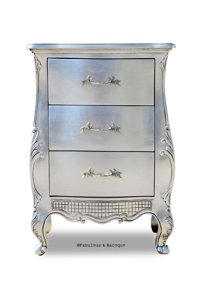 Fabulous & Baroque's Angelique Side Table - Silver