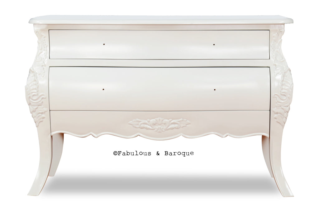 Bordeaux Grand Side Table - White