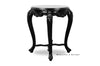 Brielle French Baroque Side Table - Black