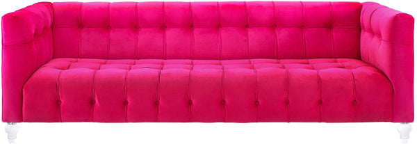 Bea HOT Pink Velvet Sofa