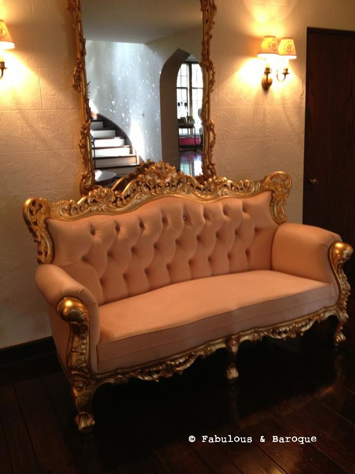 Belle de Fleur French Love Seat - Gold - Client Photo
