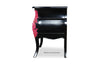 Bordeaux Side Table - Black and Fuschia