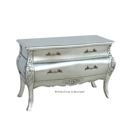 Bordeaux Grand Side Table - Silver Leaf