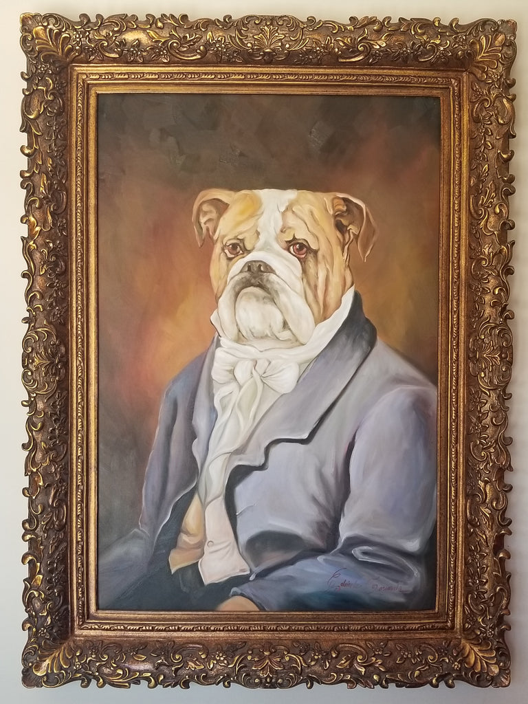 Baroque Portrait Painting - Brutus the Bulldog