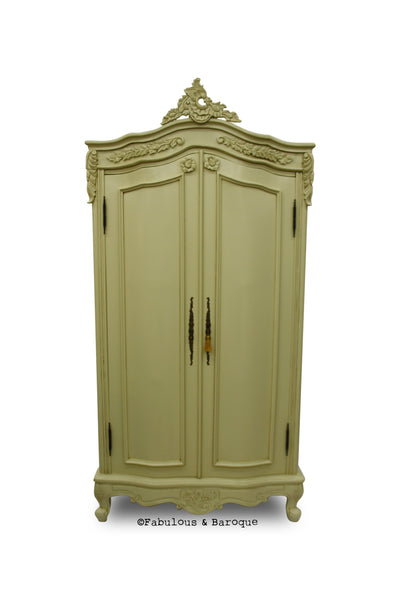 Cateline French Large Wardrobe - Ivory