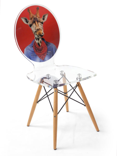 Graph Chair - Giraffe with wooden legs