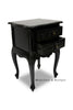 Cosette 2 Drawer Side Table - Black