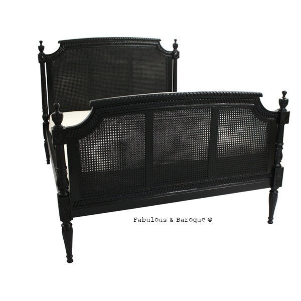 Carolina Cane Bed - Black