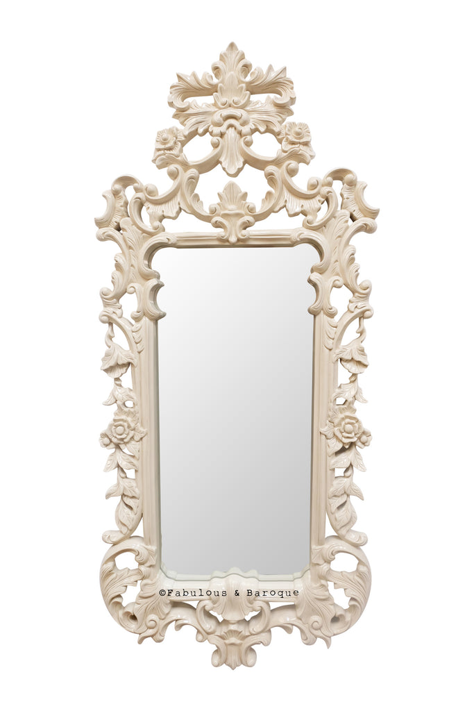Pétale French Leaf Mirror - Cream