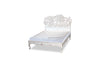 Crimson Lotus Bed - White Rustic