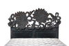 Crimson Lotus Bed - Black Rustic