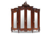 Micheline 3 Door Mirrored Armoire - Stained