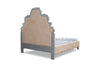 Imperia Upholstered Bed - Silver & Cream