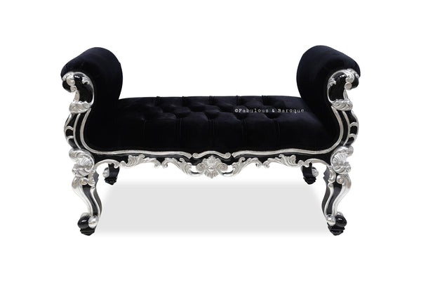 Fabulous and Baroque's Gryphon Reine Bench - Black & Silver