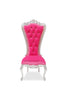 Gryphon Reine Side Chair - Silver & Pink