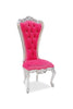 Absolom Roche Side Chair - Silver & Pink