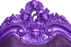 Marilyn Goth Bed - Purple Chrome QUEEN ONLY