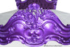 Marilyn Goth Bed - Purple Chrome