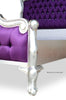 Odette Bed - Silver Leaf & Purple Silk