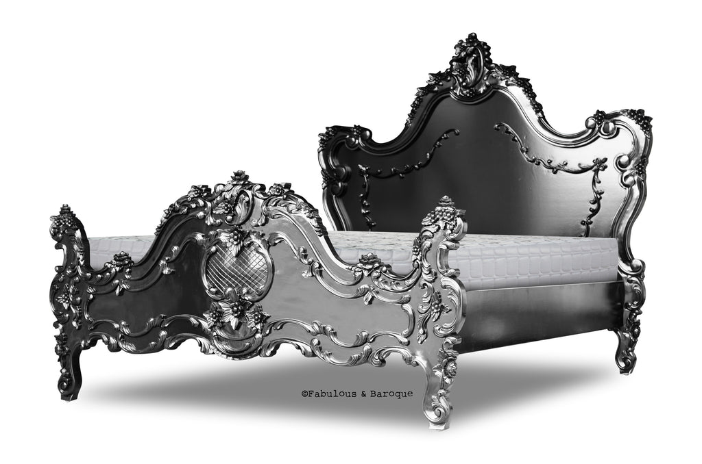 Cristiana Baroque Bed - Black