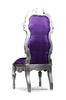 Noblesse Chair - Silver Leaf & Aubergine