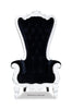 Absolom Roche Chair - White & Black Velvet