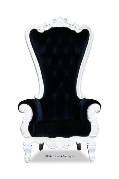 Gryphon Reine Chair - White & Black Velvet