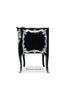 Louis XV Commode - Black & Silver